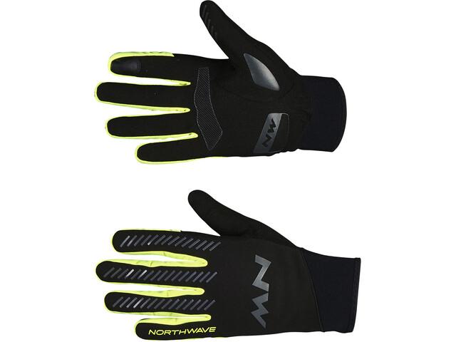 Northwave Core Full Handschoenen Heren, black/yellow fluo
